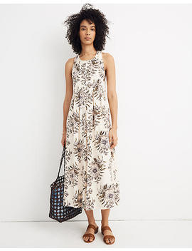 T Back Midi Dress In Painted Blooms by Madewell