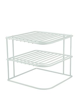 Decor Rack 1 Countertop Corner Shelf Organizer, 3 Tier Heavy Duty Corner Rack, Counter And Cabinet Corner Helper Shelf, Free Standing Rack For Kitchen Counter Pantry And Cupboards, White by Decor Rack