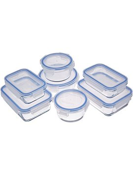 Amazon Basics Glass Locking Food Storage Containers   14 Piece Set by Amazon Basics