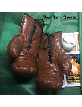 Past Time Sports 1910 1930 Antique Style Leather Boxing Gloves by Past Time Sports