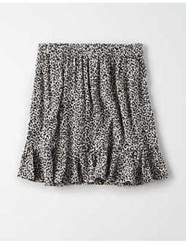 Ae High Waisted Leopard Print Mini Skirt by American Eagle Outfitters