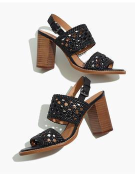The Basketweave High Heel Sandal by Madewell