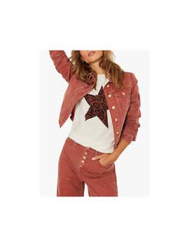 Mint Velvet Western Denim Jacket, Red by Mint Velvet