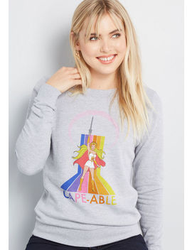 Cape Able She Ra Graphic Sweatshirt by Modcloth