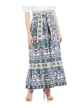 Tegan A Line Poplin Maxi Skirt by Antonio Melani