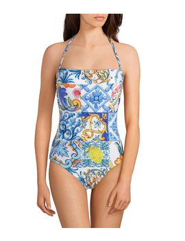 Mosaic Bandeau One Piece Swimsuit by Antonio Melani