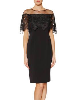 Gina Bacconi Manuela Embroidered Bodice Dress, Black by Gina Bacconi