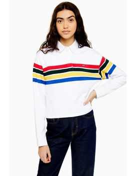 Crop Rugby T Shirt By Levi's by Topshop