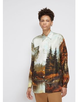 Long Sleeve Printed Button Down by Kwaidan Editions
