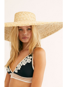 Under Cover Wide Brim Straw Boater Hat by Free People