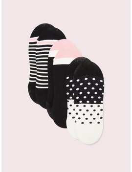 Colorblock No Show Sock Set by Kate Spade