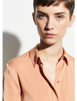 Slim Fitted Popover Shirt by Vince
