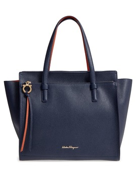 Large Pebbled Leather Tote by Salvatore Ferragamo