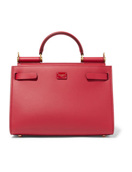 Sicily 62 Leather Tote by Dolce & Gabbana