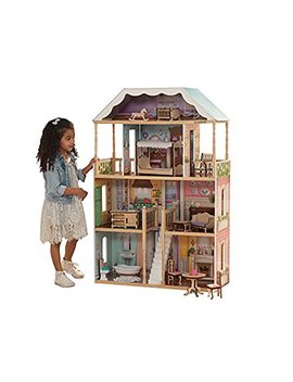 Kid Kraft 65956 Charlotte Dollhouse With Ez Kraft Assembly Dollhouses, Multicolor by Kid Kraft