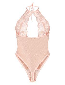 Dusty Pink Key Hole Halterneck Body  by Prettylittlething