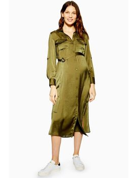 **Maternity Utility Shirt Dress by Topshop