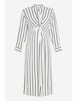 **Maternity Twist Stripe Midi Dress by Topshop
