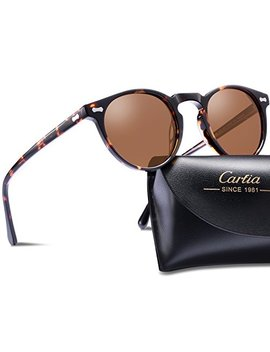 Carfia Vintage Polarized Sunglasses For Men, 100 Percents Uv400 Protection Acetate Frame by Carfia