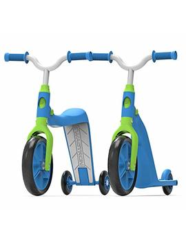 Swagtron K6 Toddler Scooter, Convertible 4 In 1 Ride On Balance Trike & Training Bike For 2 5 Year Olds — Astm F963 Certified (Blue) by Swagtron