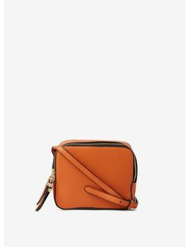 Orange Double Zip Cross Body Bag by Dorothy Perkins