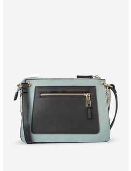 Blue Zip Front Cross Body Bag by Dorothy Perkins
