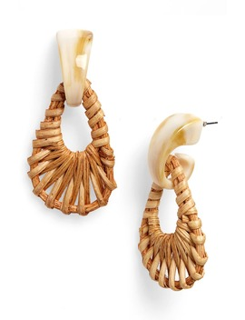 Mixed Media Wicker Drop Earrings by Bp.
