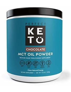 Perfect Keto Mct Oil Powder: Ketosis Supplement (Medium Chain Triglycerides, Coconuts) For Ketone Energy. Paleo Natural Non Dairy Ketogenic Keto Coffee Creamer (Chocolate) by Perfect Keto