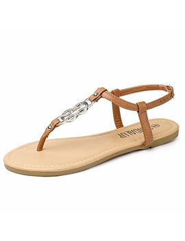 sandalup-thong-flat-sandals-with-ring-metal-buckle-for-women-summer by sandalup