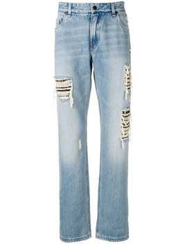 Distressed Jeans by Fendi