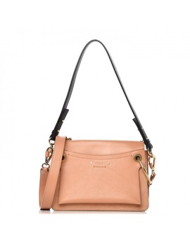 Chloe Calfskin Suede Small Roy Bag Blushy Pink by Chloe