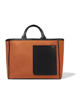 Shopping Leather Trimmed Canvas Tote by Valextra