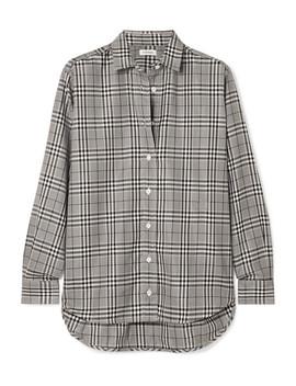 Capri Checked Poplin Shirt by Totême