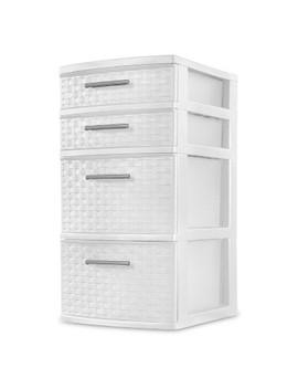 4 Drawer Storage Tower White   Sterilite by Sterilite