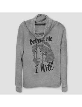 Women's Disney Jasmine Believe Me Sweatshirt   Gray by Gray