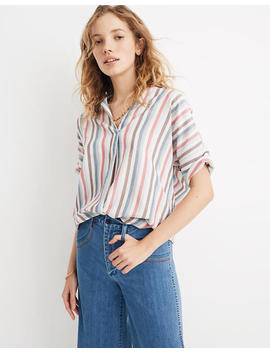 Courier Button Back Shirt In Pocatello Stripe by Madewell