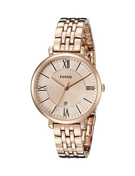 Fossil Women's Jacqueline Watch In Rose Goldtone Link Bracelet by Fossil