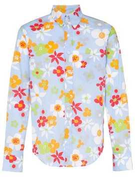 floral-print-cotton-shirt by prada