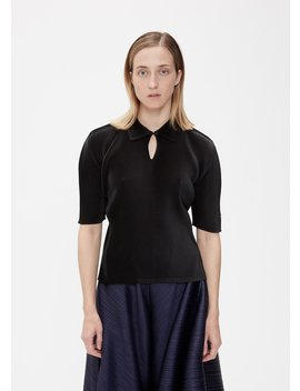 Mist Polo Top by Pleats Please Issey Miyake