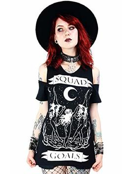 Restyle Occult Wicca Squad Goals Cold Shoulder Top by Re Style