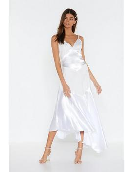End Of Time Bias Cut Satin Dress by Nasty Gal