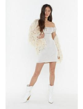 Drift Off The Shoulder Mini Dress by Nasty Gal