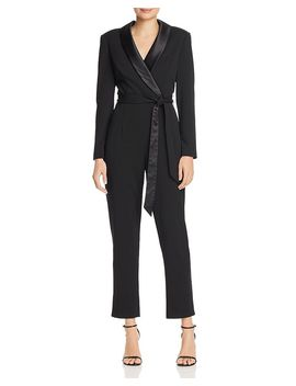 Faux Wrap Crepe Jumpsuit by Adrianna Papell