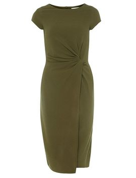 **Lily &Amp; Franc Khaki Manipulated Dress by Dorothy Perkins