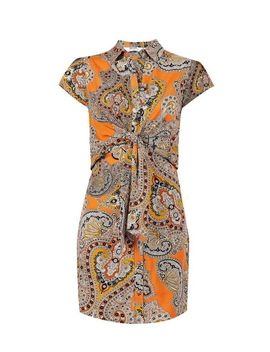 Petite Multi Colour Paisley Print Shirt Dress by Dorothy Perkins