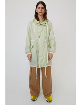 Oversized Parka White/Green by Acne Studios