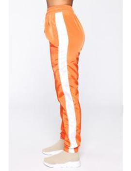 Mia Windbreaker Joggers   Orange by Fashion Nova