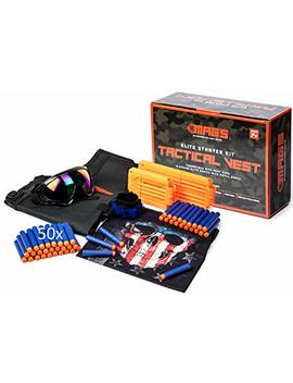 Mags Kids Tactical Vest Kit For Nerf Gun With 50x Replica Nerf Bullets, Goggles, Mask And More! Add On To Nerf Accessories, Nerf Machine Gun, Nerf Zombie Strike, Fortnite Nerf Guns For Boys And Girls by M.A.G.S