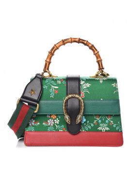 Gucci Jacquard Floral Medium Dionysus Top Handle Bag Green Red by Gucci