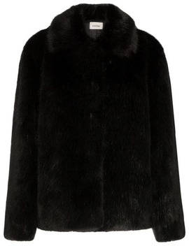 Collared Faux Fur Jacket by Toteme
